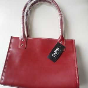 Burgandy Leather purse - New!